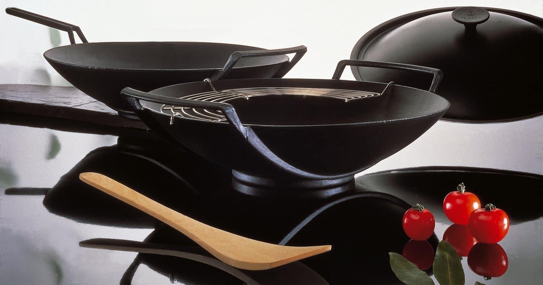 le creuset wok 5 teilig test ratgeber. Black Bedroom Furniture Sets. Home Design Ideas