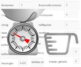Mengenberechnungen Küche